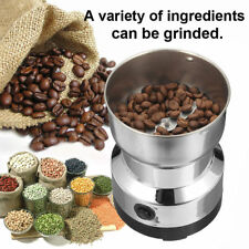220V Electric Grinding Coffee Bean Milling Machine Grinder Tool Stainless Steel