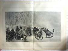 1876 Sleighing And Skating In Holland Engraving
