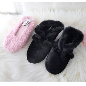 New 2 Pair Size 8 Fuzzy Slippers! ISOTONER FUR BLACK L / Pink Macys HUE Chenille