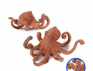 Octopus Realistic Sea Animal Model Solid Plastic Figure Ocean Toy 2020