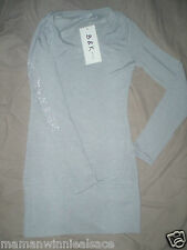 pull long fin gris neuf taille 10 ans  B&K