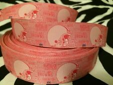 "2 yards of 1"" Cleveland Browns Grosgrain Ribbon (Pink)"