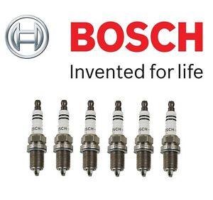 Fits BMW E34 E36 E39 Z3 Volkswagen Set of 6 Spark Plugs Bosch FLR8LDCU / 7404