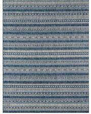 Tuscany Striped Denim Blue/Tan Indoor / Outdoor Area Rug