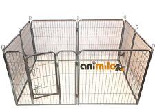Parc à chiots ou chien en métal 'COSTAUD' gris hauteur 80 cm