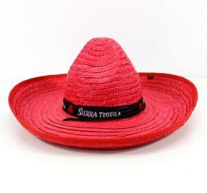 SIERRA Tequila Strohhut Sombrero rot | One Size Sonnenschutz Neu 51fm