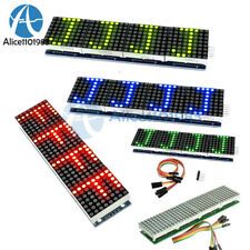 MAX7219 4 In 1 LED Display Microcontroller+5P Line Dot Matrix Module For Arduino