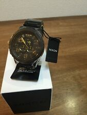NIXON watch 51-30 CHRONO MATTE BLACK /GOLD  A083-1041 A0831041  free shipping
