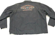 mens Harley Davidson LIGHTWEIGHT jacket 3XL black orange Burning Skull willie g