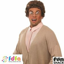 MRS BROWNS BOYS OLD GRANNY GRANDMA WIG & GLASSES SET mens fancy dress costume
