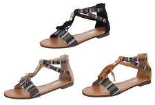 Markenlose Damen-Sandalen & -Badeschuhe aus Kunstleder für Kleiner Absatz (Kleiner als 3 cm)