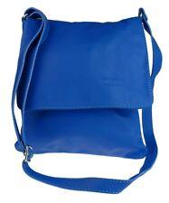 Genuine Soft Leather Italian Cross Body Shoulder Bag Flap Zipped Simple Elegant