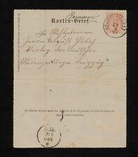 (YYAI 342) Austria 1898 Frankenmarkt Vöcklabruck postal stationery card