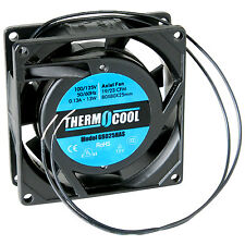Thermocool 110 VAC Fan 80 x 25mm Sleeve Bearing 19 CFM