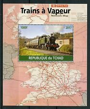 Chad 2017 CTO Steam Trains Engines 1v M/S Railways Rail Stamps