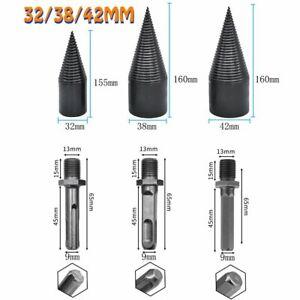 High Speed Twist Firewood Drill Bit 32-42mm Wood Splitter Splitting Cone Driver