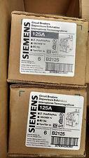 Siemens ITE B2125 circuit breaker 2pole 125amp type BL 1 year warranty !  New!!