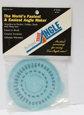 "The Original True Angle adjustable 4"" DIAL #104 Attaches to pocket, folder, desk"