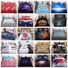 3D Luxury Duvet Cover Quilt Cover Bedding Set Pillowcases Single Double King Hot
