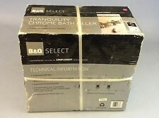 B&Q  Select Tranquility Chrome Bath Filler New In Box