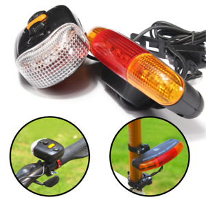 LED Bicycle Indicator Signal Lights Bike Front Rear Tail Brake Light With Horn