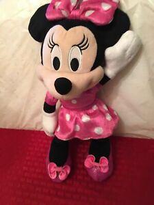 Disney Minnie Mouse Pink Polka Dot Plush Beanbag Doll