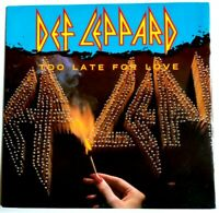 "NM/NM Def Leppard Too Late For Love Foolin High n Dry 1983 UK 12"" VINYL 45"