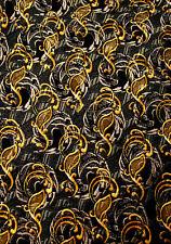 ROBERT TALBOTT 7 Seven FOLD Black/Gold  Mens 100  SILK Necktie  9 816