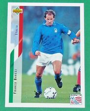 RARE FOOTBALL CARD UPPER DECK 1994 USA 94 FRANCO BARESI ITALIA ITALIE SQUADRA