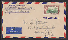 Jamaica Sc 125 on 1950 Commercial Air Mail Cover