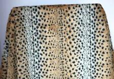 """leopard print  FAUX FUR FABRIC costumes cosplay crafts backdrops  60"""" wide  BTY"""
