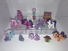 MY LITTLE PONY WELCOME TO PONYVILLE  CAKE TOPPERS 12 PLASTIC FIGURES BRAND NEW