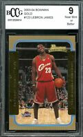 2003-04 Bowman Gold #123 LeBron James Rookie Card BGS BCCG 9 Near Mint+
