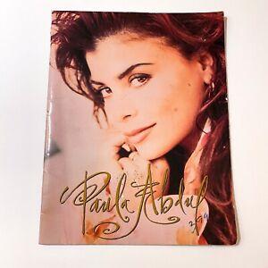 Original 1991 Paula Abdul Under My Spell Concert Tour Program