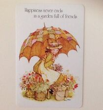 Hollie Hobbie Playing Swap Card,Happiness Never Ends In A Garden Full Of Friends