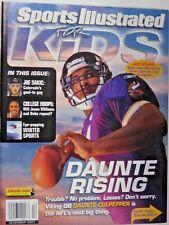 December 2001 Daunte Culpepper Vikings Sports Illustrated For Kids NO LABEL