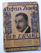 Antique 1929 DER ZWANG by Stefan Zweig with 15 Wood Cuts Rare Old Book
