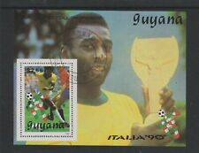 Guyana - 1990, Italia '90 World Cup Football, Brazil sheet - F/U