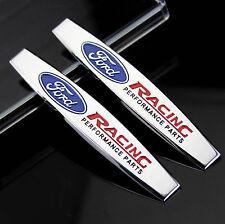 2pc 3D Metall Auto Schriftzug Aufkleber Emblem für Schutzblech chrome sports NEU