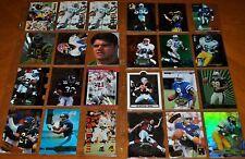 24 INSERT CARD LOT KK FOOTBALL STARS: MEANS, BANKS, BLEDSOE, MIRER, PLUMMER MORE