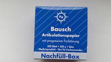 2x 300 Blatt Bausch Artikulationspapier 200 µ Nachfüll-Box blau│NEU + OVP