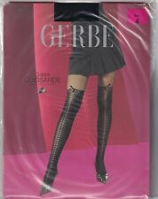 Collant fantaisie GERBE CUISSARDE coloris Noir. Taille 4 - 10. Fashion tights.