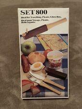 Rare Vintage German Picnic Camping Cutlery - Compact - Salt Pepper Shaker