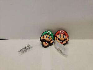 Super Mario Brother & Luigi Shoe Jibbitz ~ Authentic for Crocs 2 New Charms NEW