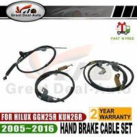 For Hilux KUN26R 2005-2010 3pcs Hand Brake Cables Front & Rear AU Brand New
