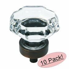*10 Pack* Cosmas 5268ORB-C Oil Rubbed Bronze & Clear Glass Cabinet Knob