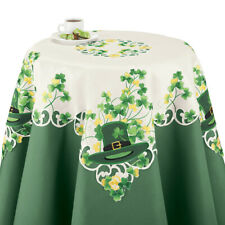 St. Patrick's Day Table Linens with Shamrocks & Leprechaun Hats