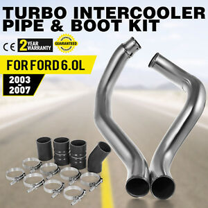 Fit Ford 6.0L Powerstroke Diesel 2003-2007 Turbo Intercooler Pipe and Boot Kit