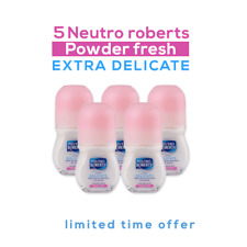 (5x)Neutro Roberts Deodarant Delicate Powder Fresh ROLL-ON 50ml