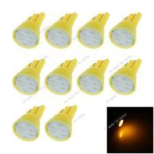 10X Car Yellow LED COB SMD T10 12V W5W Wedge Side Light Bulb Indica Lamp A068